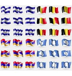 El Salvador Belgium Karabakh Republic Antarctica vector