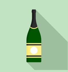 Elite champagne icon flat style vector