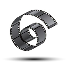 film stripe curl vector image
