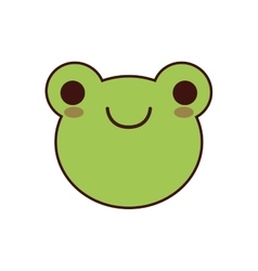 Frog kawaii cute animal icon vector