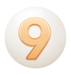 Full collection of icons balls with number vector
