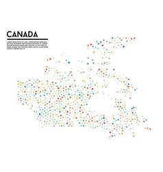 Geometric simple minimalistic style canada map vector