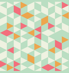 Geometric triangle seamless pattern vector