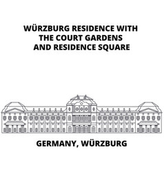 germany wurzburg residence line icon concept vector image