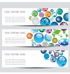 globe banners vector image