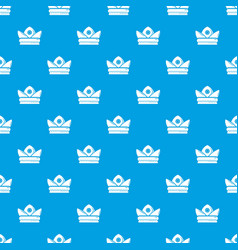 Gold crown pattern seamless blue vector