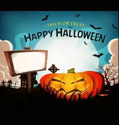 halloween holidays landscape background vector image