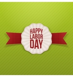 Happy Labor Day paper white Banner vector image