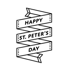Happy st peters day greeting emblem vector
