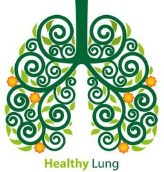 healthy lung symbol vector image