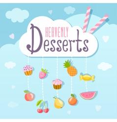 Heavenly deserts logo concept vector