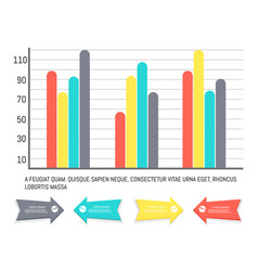 infographics and diagrams with arrowheads info vector image