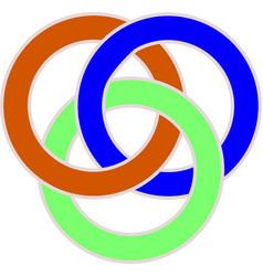 intercoloring circles vector image