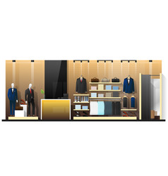 Interior scene of men clothing store vector