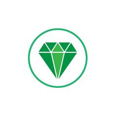 jewelry symbol diamond icon vector image