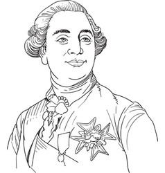 king louis xvi vector image