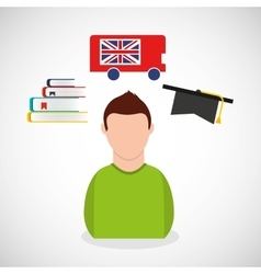 Learn english education icons vector