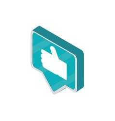 like message social media isometric icon vector image
