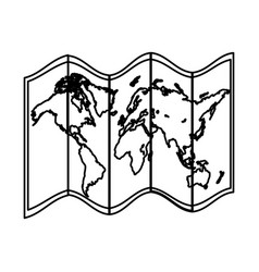 Line global geography map object information vector