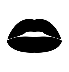 lipstick or lips the black color icon vector image