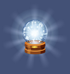 Magic crystal ball fortune mistery shining vector