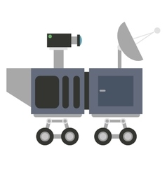 mars rover curiosity icon vector image