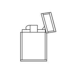 metal lighter icon vector image