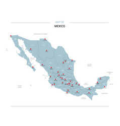 mexico map with red pin vector image
