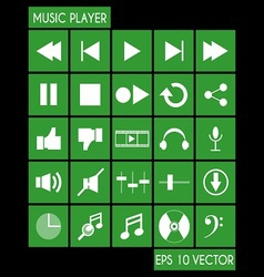 Music Player Icon Set vector image