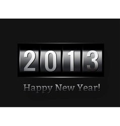 New Year counter 2013 vector