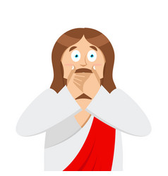 omg jesus is facepalm oh my god christ is vector image