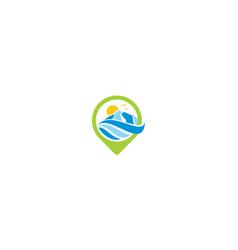 outdoor sport logo icon vector image