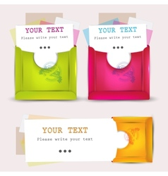 Paper envelopes set vector