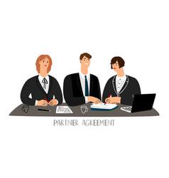Partner agreement concept vector