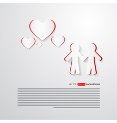 People and Paper Hearts Abstract Background vector image