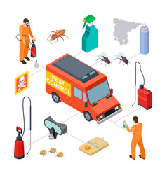pest control infographic isometric disinfection vector image