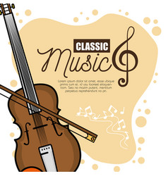 poster festival classic music icon vector image