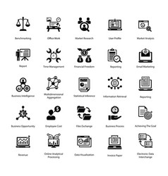 Project management icons collection vector