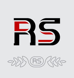 r and s initials or logo rs - monogram or vector image