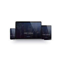 realistic laptopphone tablet isolatedforex vector image