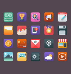 Set of business app icons vector