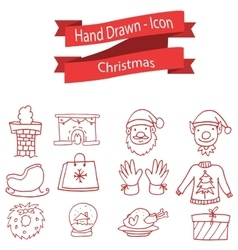 Set of Christmas icon collection stock vector