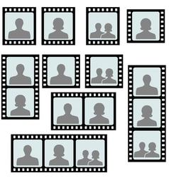 Set photo frames picture slide vector