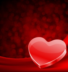 Shiny heart gift on silk vector