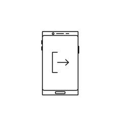 Smartphone logout icon vector