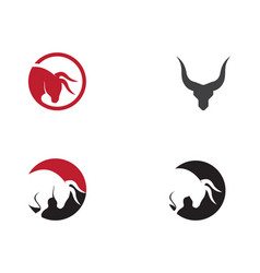 taurus logo template icon design vector image
