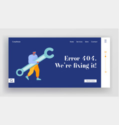 Technical support service website landing page vector