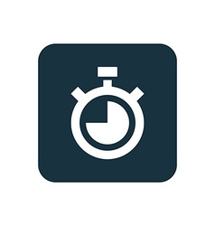 timer icon Rounded squares button vector image