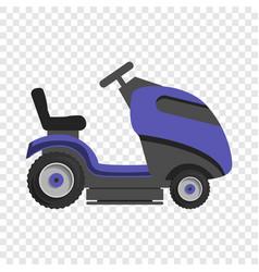 Truck grass cut icon cartoon style vector