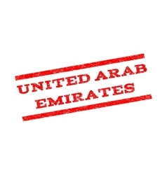 United Arab Emirates Watermark Stamp vector image